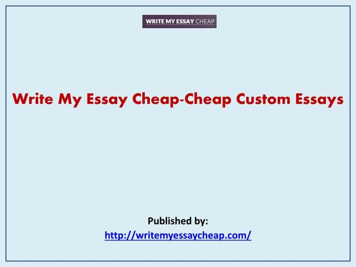 Custom Essays Writing